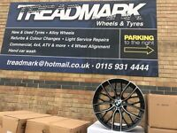 """18"""" alloy wheels alloys rims 5x120 BMW 1 2 3 4 5 series staggered"""