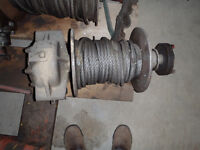 Industrial Winch w/ approx. 150 ft of 5/8 cable