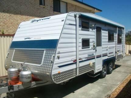 2011 Supreme semi-offroad 22ft family bunk caravan, with ensuite Deception Bay Caboolture Area Preview