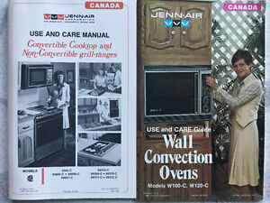 New Vintage JENN-AIR convertible cooktop & convection wall oven