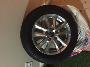"Mazda OEM 16"" Alloy Wheels With New Tires Peterborough Peterborough Area image 1"