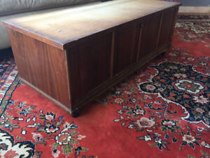 Wooden, aromatic, locking hope chest