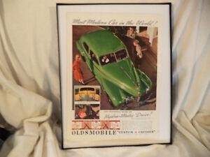 OLD FRAMED CAR ADS Windsor Region Ontario image 2