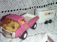 tonka truck with a horse trailer
