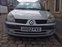 2002 Renault Clio 1.2 12 Months Mot