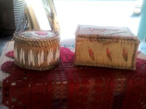 Native American Birch Bark Boxes, Belleville(ON) Farmers Market