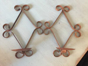 Wall candle sconces. $20 for the pair!