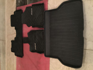2015 Acura RDX front  and rear floor mats and rear cargo mat