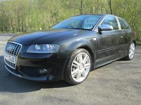 07/57 AUDI S3 TFSI QUATTRO 3DR HATCH IN MET BLACK WITH FULL AUDI SERVICE HISTORY