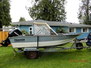 17 ft Aliminum boat with 75 HP Mercury motor