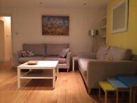 Short term Camden let - double room in beautiful 2-bed garden flat