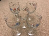 5 Beautiful Lovely Wine Glasses Only £12.00 INCLUDING FREE DELIVERY