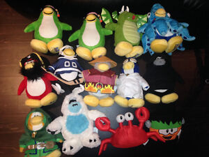 Toutous Club Pingouin/Club Penguin Stuffies