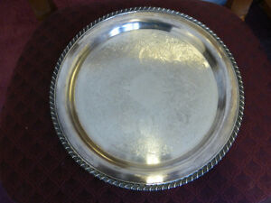 """Silver Plated Platter - 12 1/4"""" diameter - Great condition"""