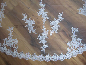 New, cathedral, rose flower pattern lace veil