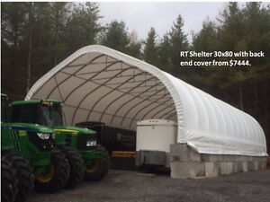 Livestock shelters/Greenhouse / Salt Bin Covers / Equip Storage