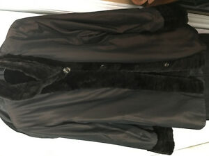 Mink fur coat reversible