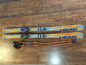 HEAD skis, LOOK bindings, Smith poles