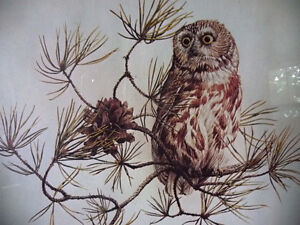 "Hand Signed and Numbered Lithograph by Peter Miehm ""Owl"" 1980 Stratford Kitchener Area image 3"