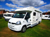 Lunar Fivestar four berth motorhome with rear fxed bed and separate shower