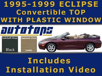 Eclipse Spyder Convertible Top With Plastic Window  Color Choice   Install Video