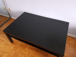 Black Ikea coffee table already assembled