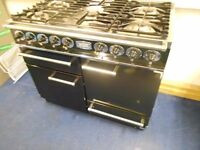 Falcon Dual Fuel Range Cooker 211 Geo ,Black And Chrome.1092 Deluxe 110cm with free delivery