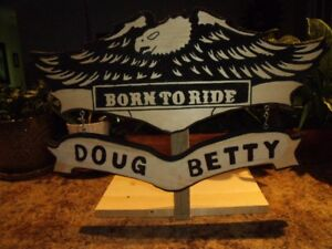 BORN TO RIDE - HANDCRAFTED SIGN