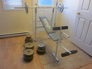 Weight bench with barbell and weights Gatineau Ottawa / Gatineau Area image 1
