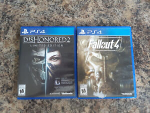 PS4 Games, Deus Ex, For Honor, Fallout 4, Dishonored 2