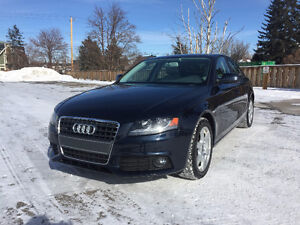 2010 Audi A4 AWD 75000km Inspected+CarProof, Winter Tires+Rims