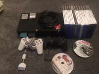 ps2 with lots of accessories inc network adapter, flip lid and internal hdd.