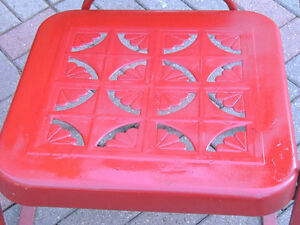 mid century chairs, outdoor furniture, vintage metal chairs, London Ontario image 5