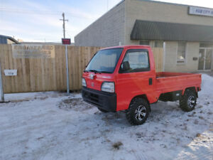 Honda Acty 4WD Mini Truck Street Legal ATV Like New Only 10800km