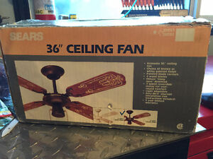"""36"""" Ceiling Fan (New never used) By Sears"""