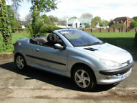 Peugeot 206 1.6 Coupe Cabriolet S**SUPER LOW MILEAGE CONVERTIBLE**1 OWNER**