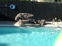 Water fall for pool