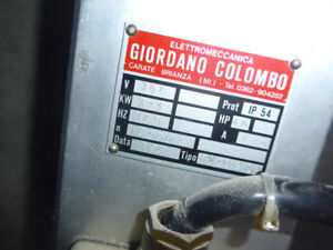 Giordano Colombo CNC Spindle Router 4.5HP