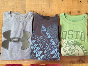 Under Armour, Quiksilver and Boston Celtics T-shirts Youth M