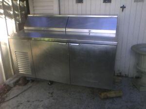 Prep table fridge