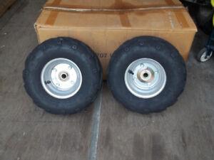 2 pneu roue et hubs 16x8.00-7
