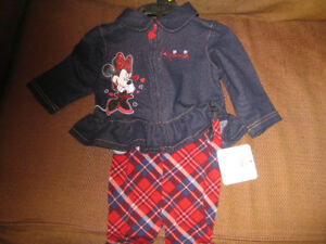NEW: Minnie Mouse blue jean coat & pants from the Disney Store.