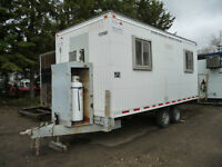 ATCO 8x18 Wheeled Office Trailer
