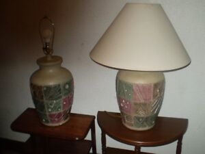 2 - CALIFORNIA STYLE TABLE LAMPS ( With Shades )