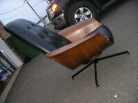 SALE OR TRADE MID CENTURY MODERN MOLDED LOUNGE CHAIR & OTTOMAN