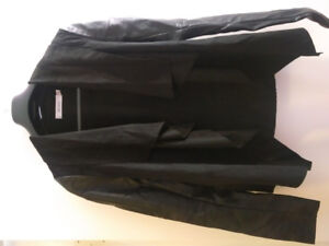 Blazer/jacket black suede and pleather