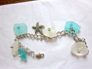 Sea Glass Bracelet and  Necklace