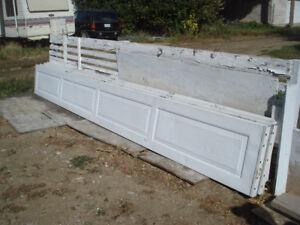 16'x7' overhead garage door alum in white