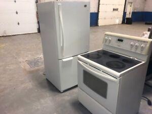 liquidation!!! Réfrigérateur, cuisinière, sécheuse
