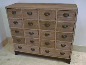 Vintage Industrial Style,Multi Drawer,Large Retro Wooden &Metal Chest Of Drawers